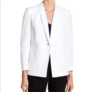 NWT Lafayette 148 White Reeves Jacket Blazer 16